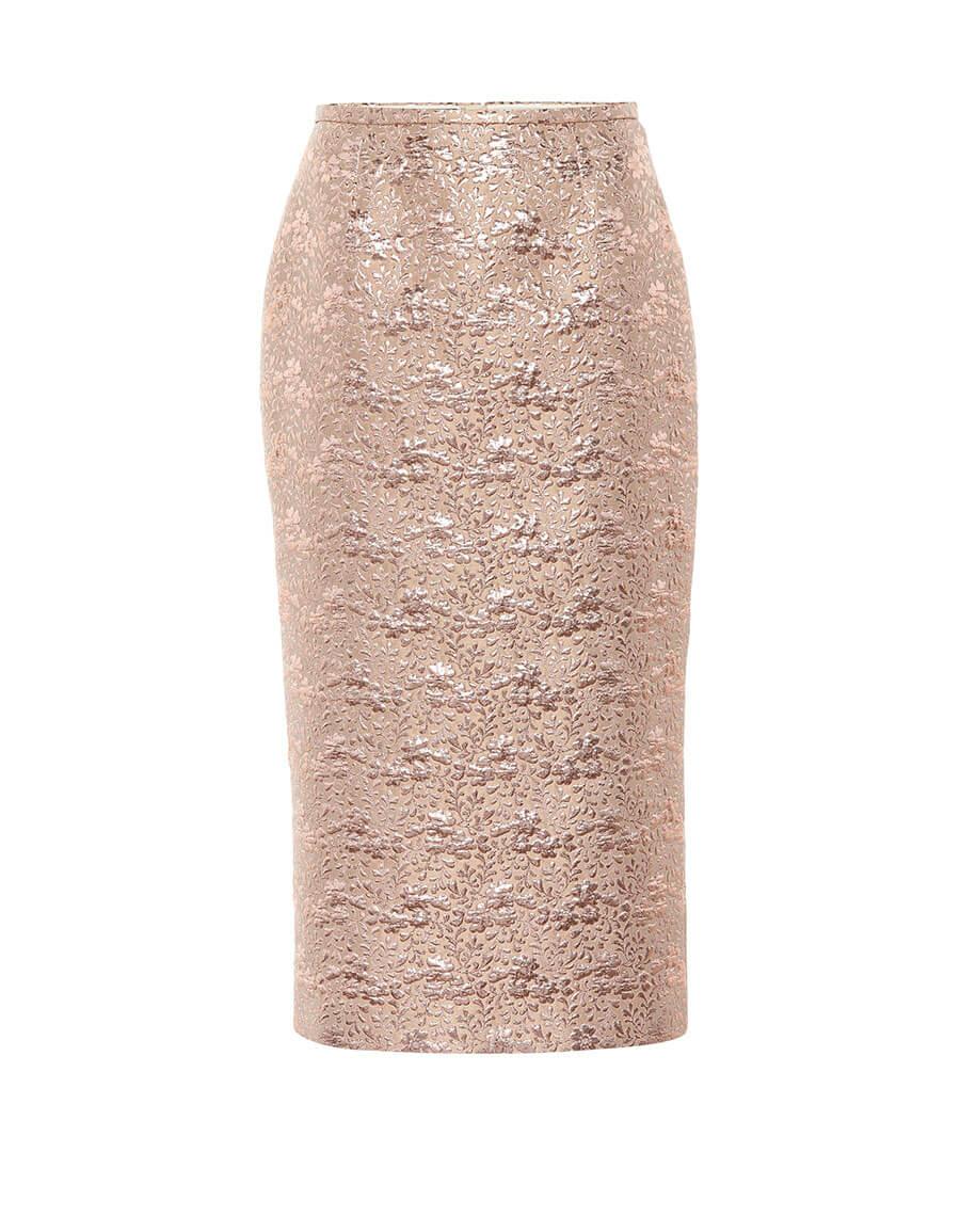 ROCHAS Brocade wool blend pencil skirt