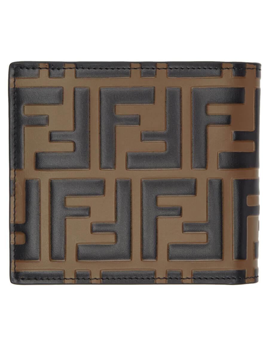 FENDI Black & Brown 'Forever Fendi' Wallet