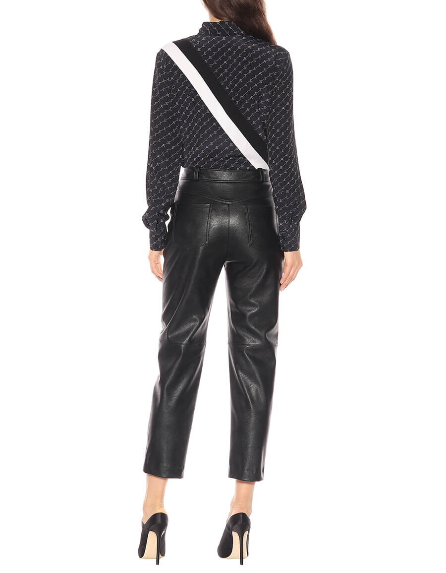 STELLA MCCARTNEY Faux leather high rise pants
