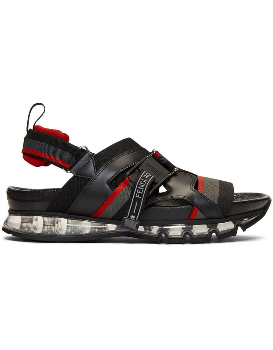 FENDI Black Running Sandals