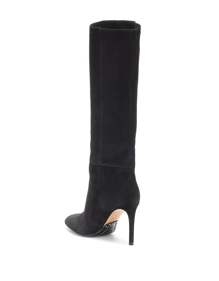 BALMAIN Suede knee high boots