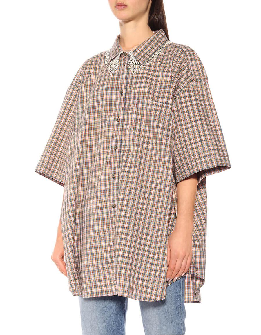 GUCCI Checked cotton shirt