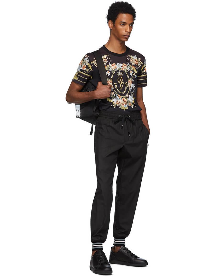 DOLCE & GABBANA Black Floral T Shirt