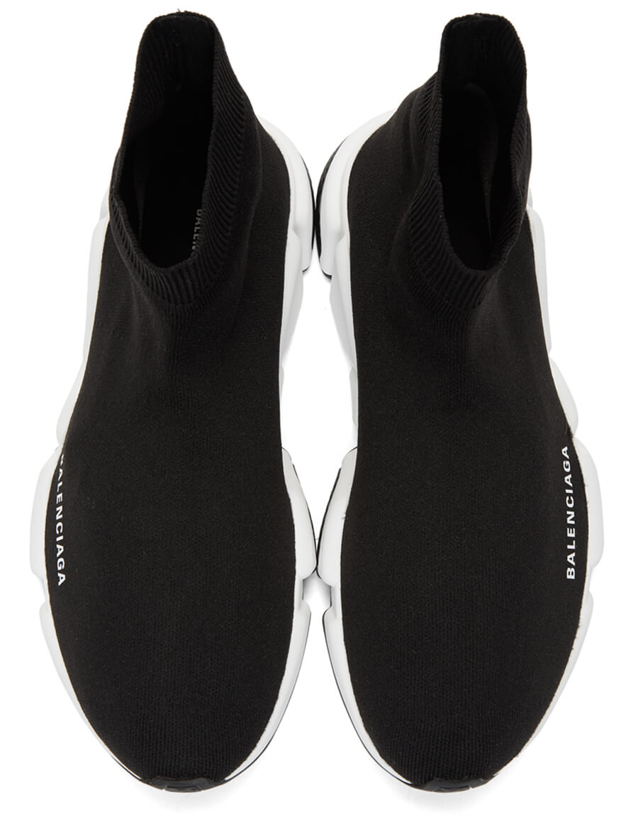 BALENCIAGA Black & White Speed Sneakers