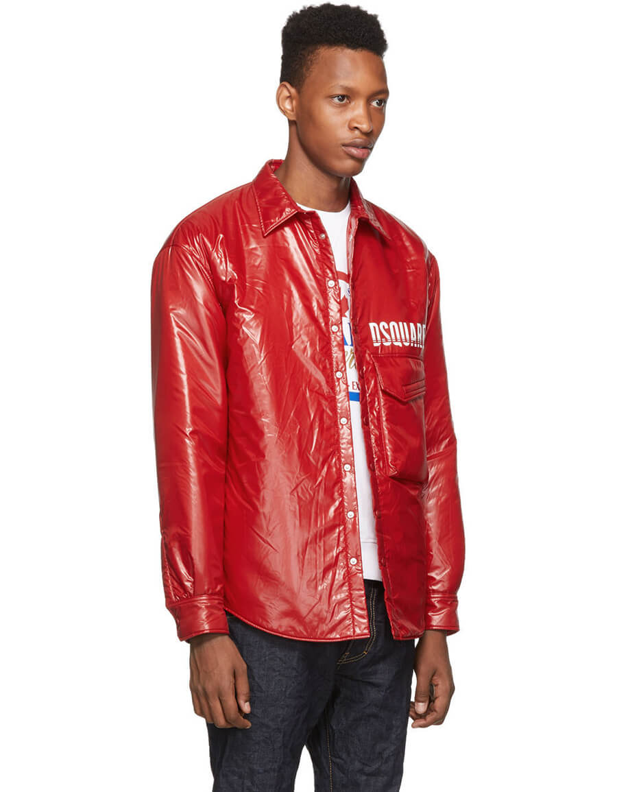 DSQUARED2 Red Dropped Military Fit Jacket