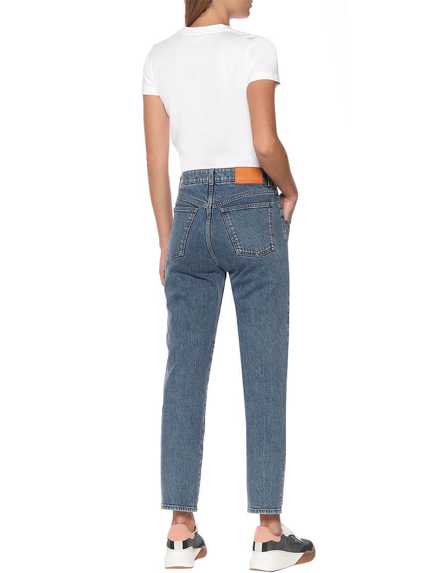 STELLA MCCARTNEY High rise stretch denim slim jeans