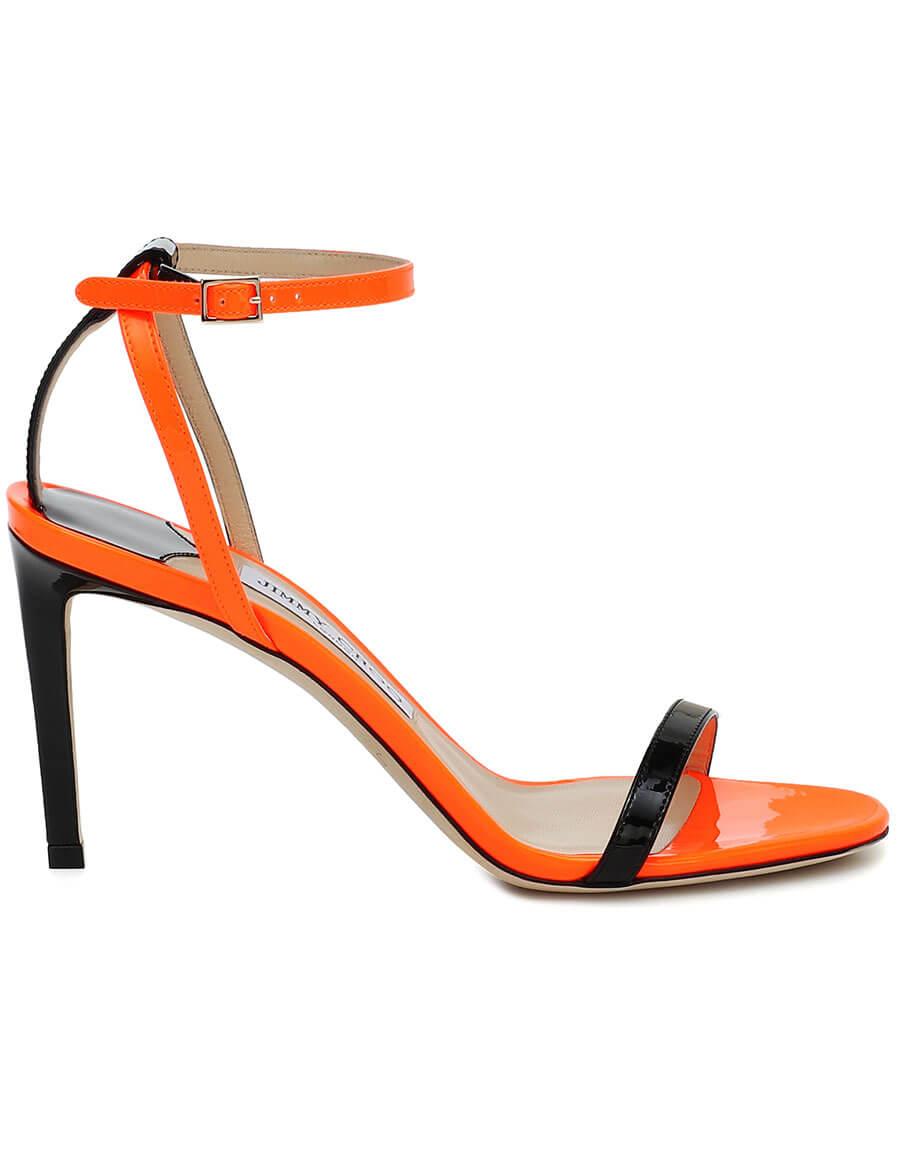 JIMMY CHOO Minny 85 patent leather sandals