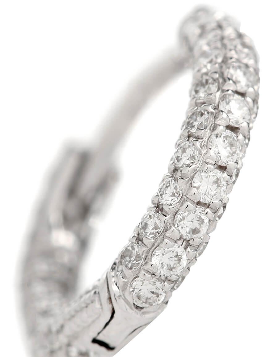 MARIA TASH 18kt white gold single earring with diamonds