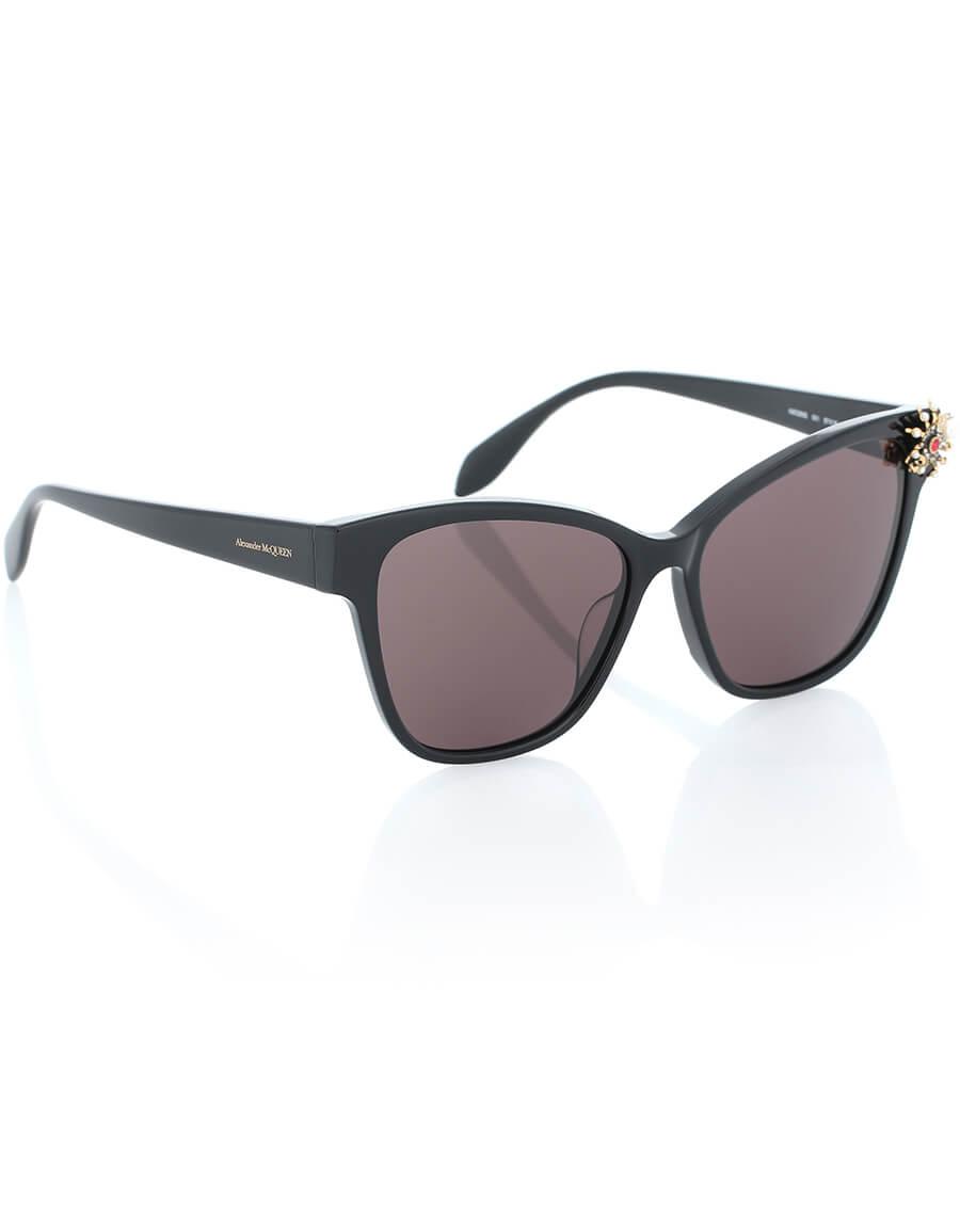 ALEXANDER MCQUEEN Spider embellished cat eye sunglasses