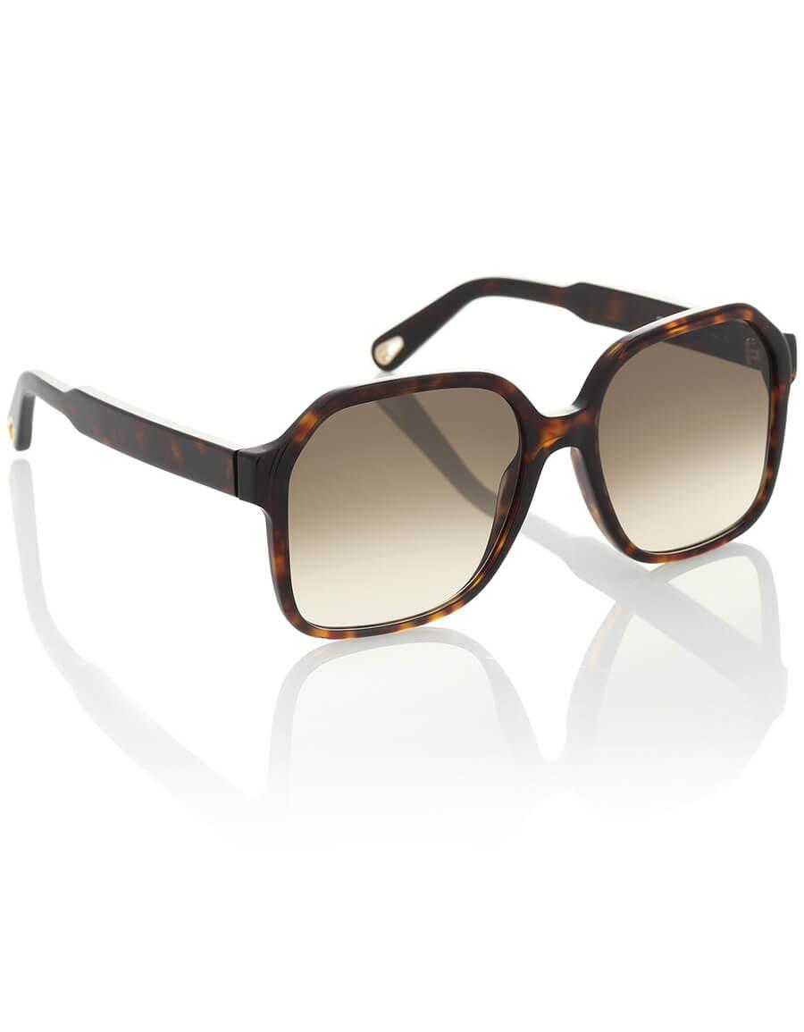 CHLOÉ Willow oversized square sunglasses