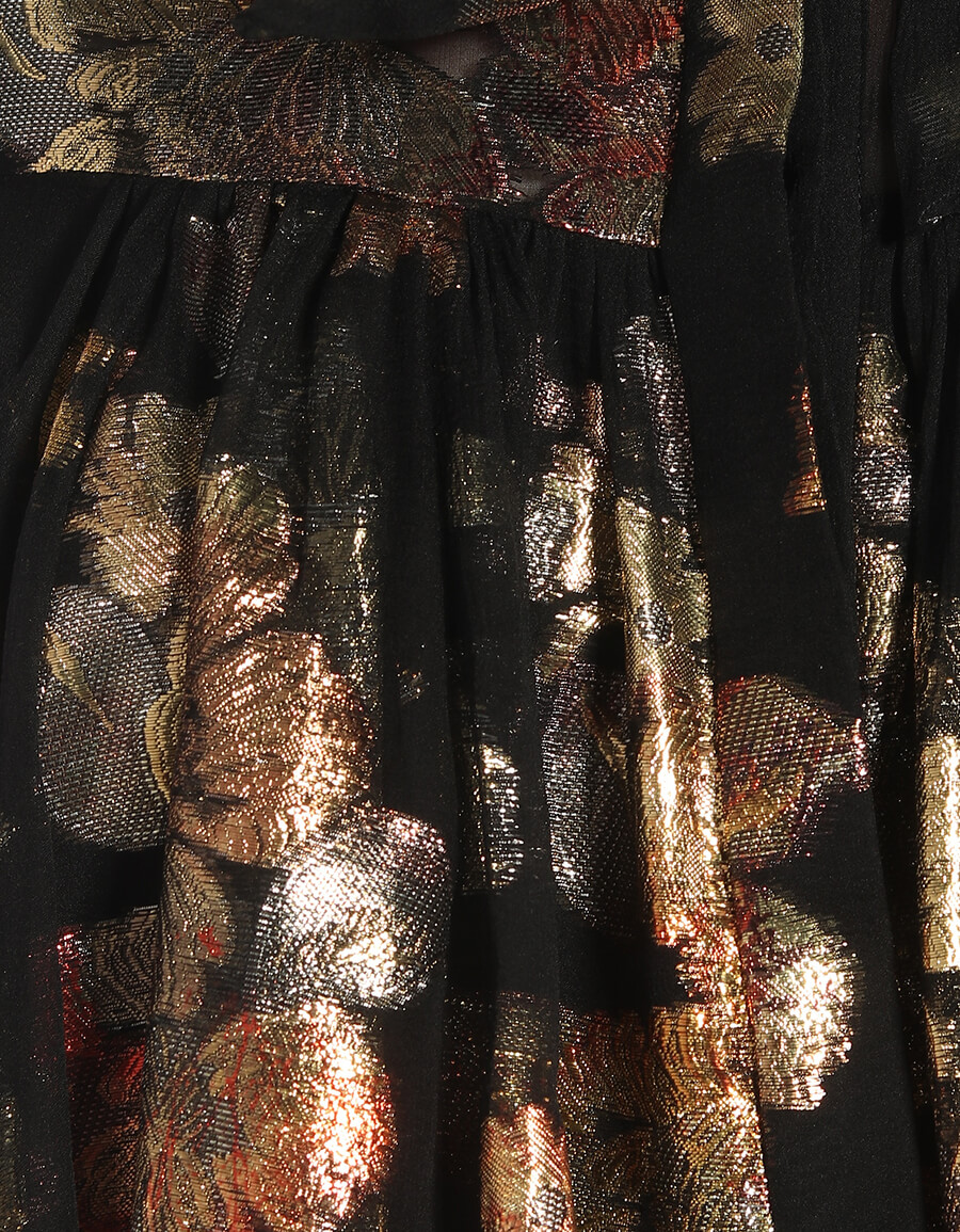 SAINT LAURENT Fil coupé silk blend georgette minidress