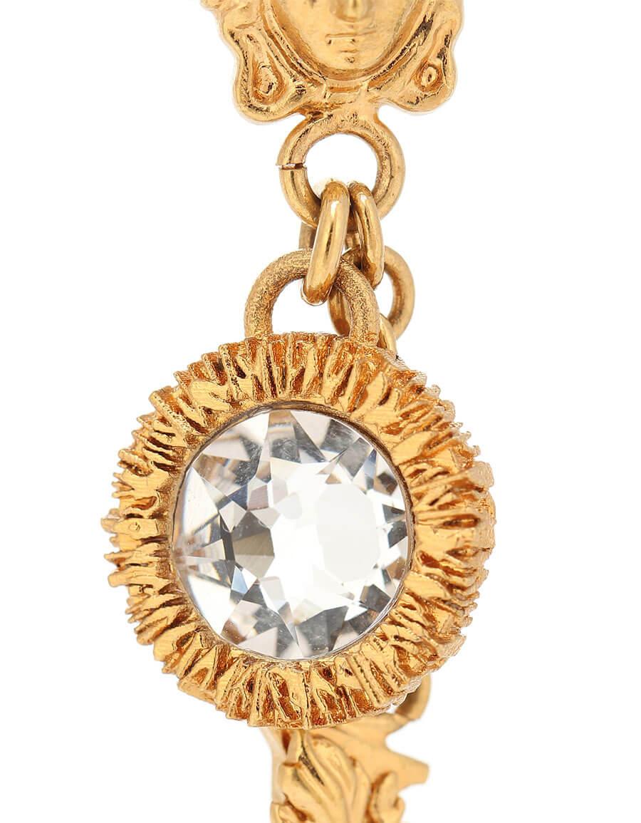 VERSACE Exclusive to Mytheresa – Crystal embellished Virtus earrings