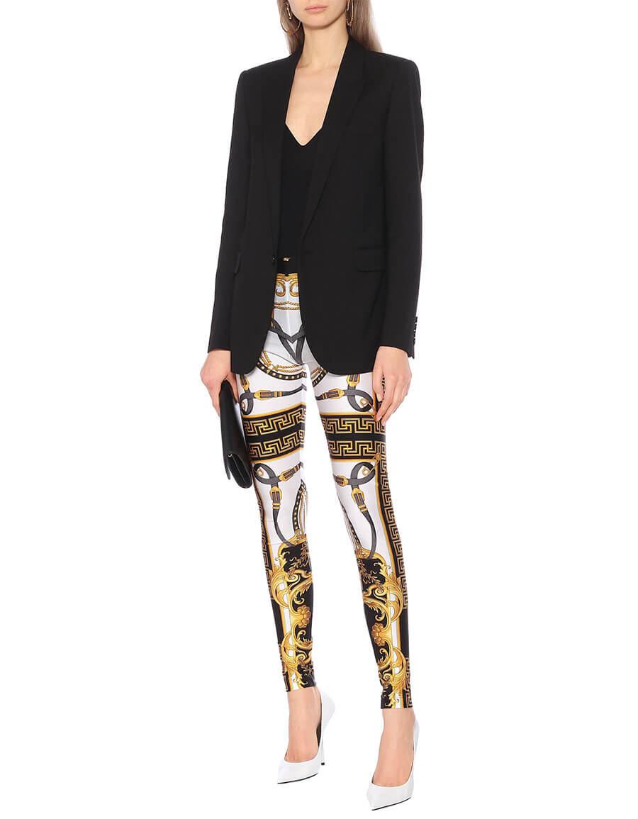 VERSACE Printed high rise leggings