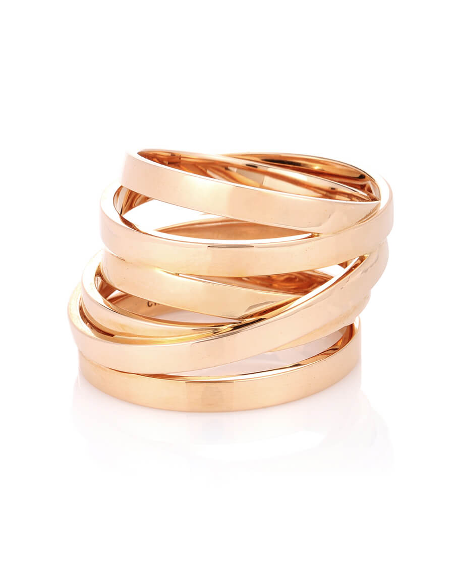 REPOSSI Berbere Technical 18kt rose gold ring