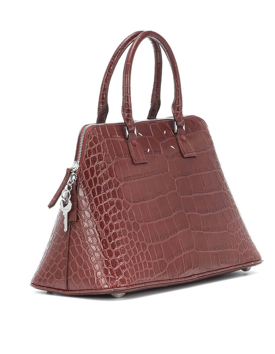 MAISON MARGIELA 5AC Medium snake effect leather tote