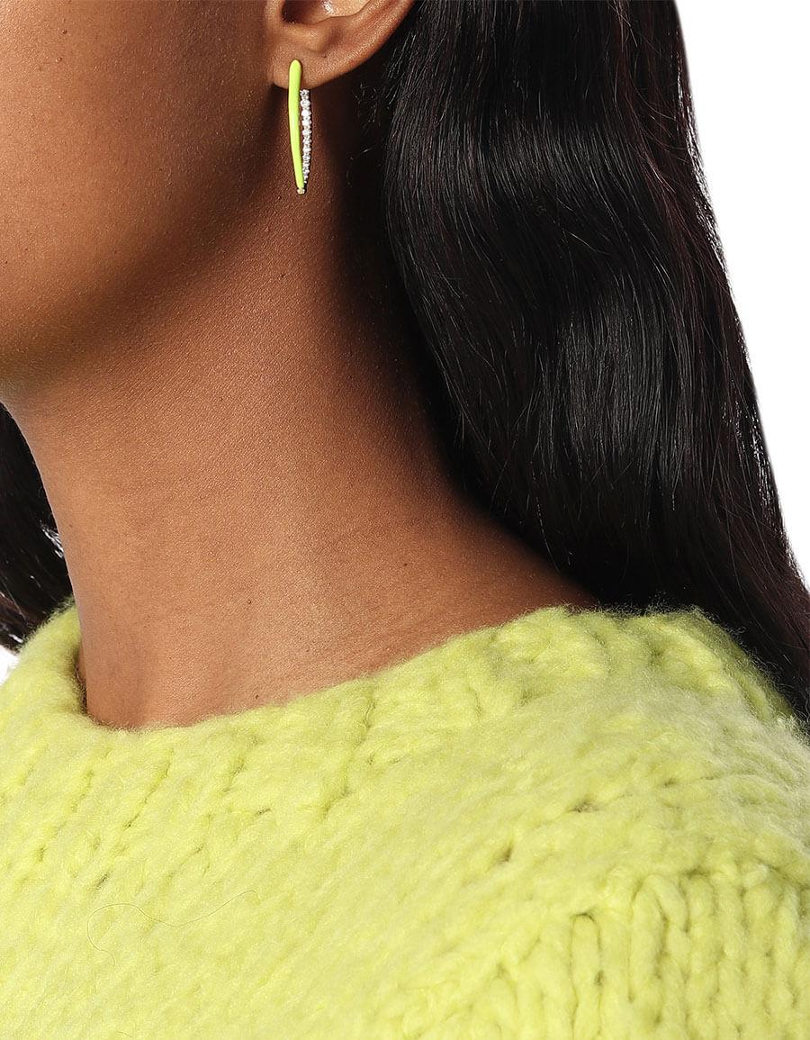 MELISSA KAYE Cristina 18kt gold and diamond hoop earrings
