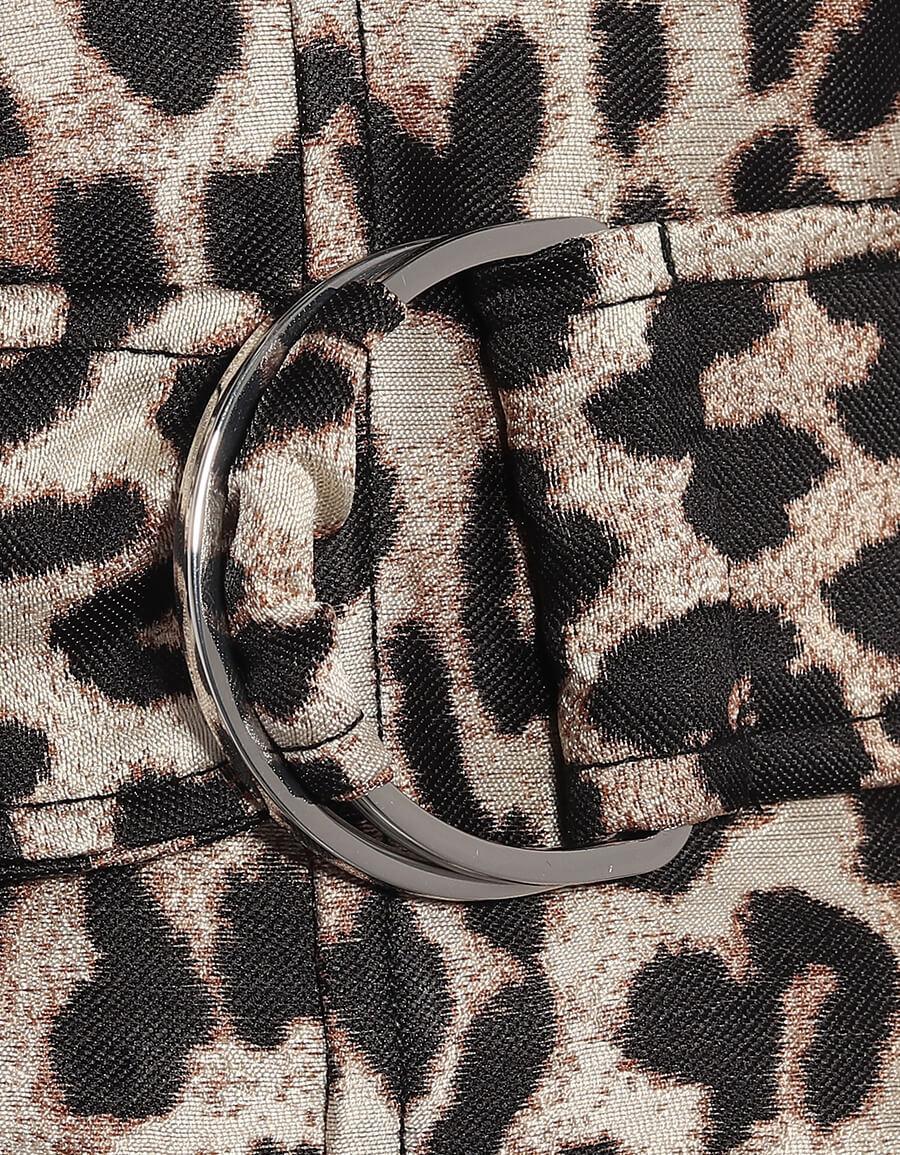 GANNI Leopard jacquard paperbag pants