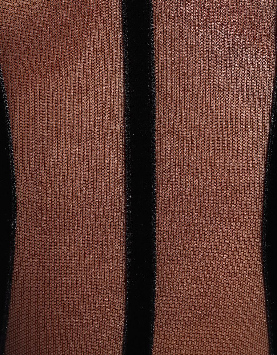 DAVID KOMA Jersey and mesh bodysuit