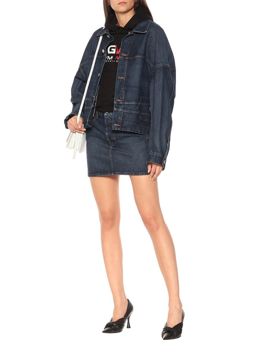BALENCIAGA Upside Down oversized denim jacket