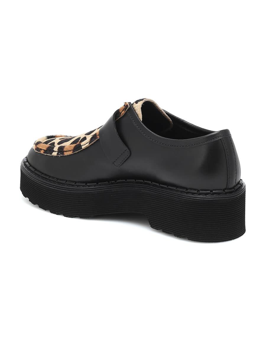 TOD'S Leopard print platform loafers