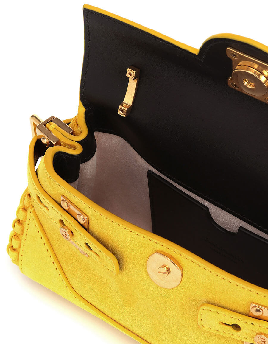 BALMAIN BBuzz 19 suede shoulder bag