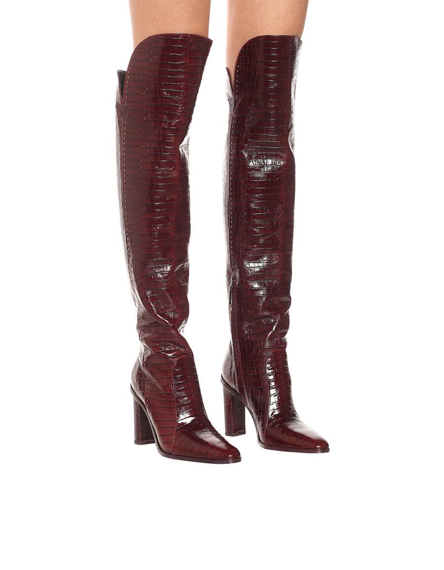 MAX MARA Beboot croc effect leather boots
