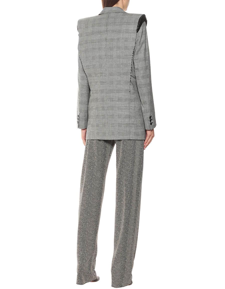 VETEMENTS Checked wool blend blazer
