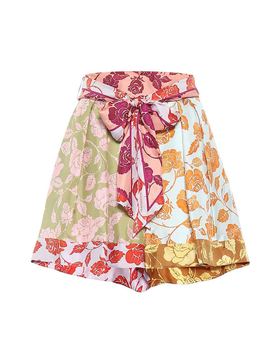 ZIMMERMANN Lovestruck floral silk twill shorts