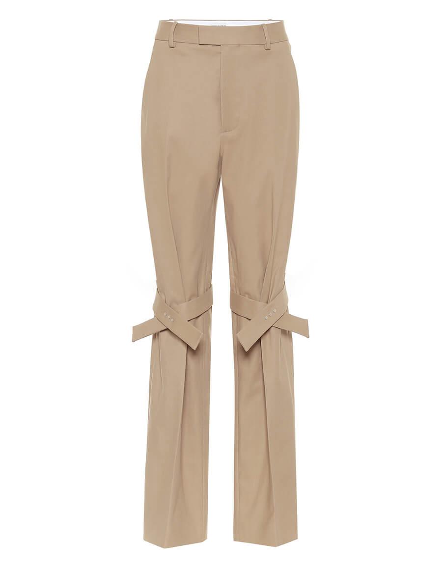 BOTTEGA VENETA High rise stretch cotton pants