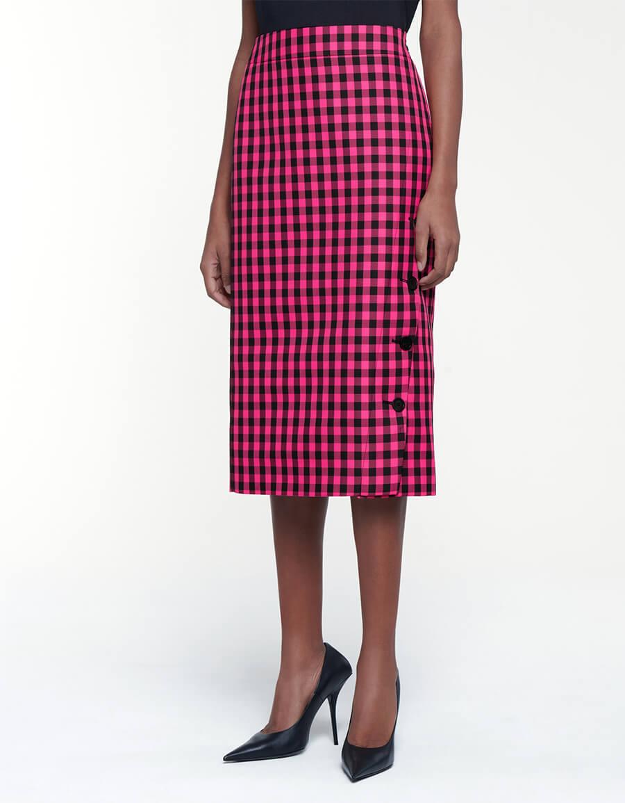 BALENCIAGA Checked pencil skirt