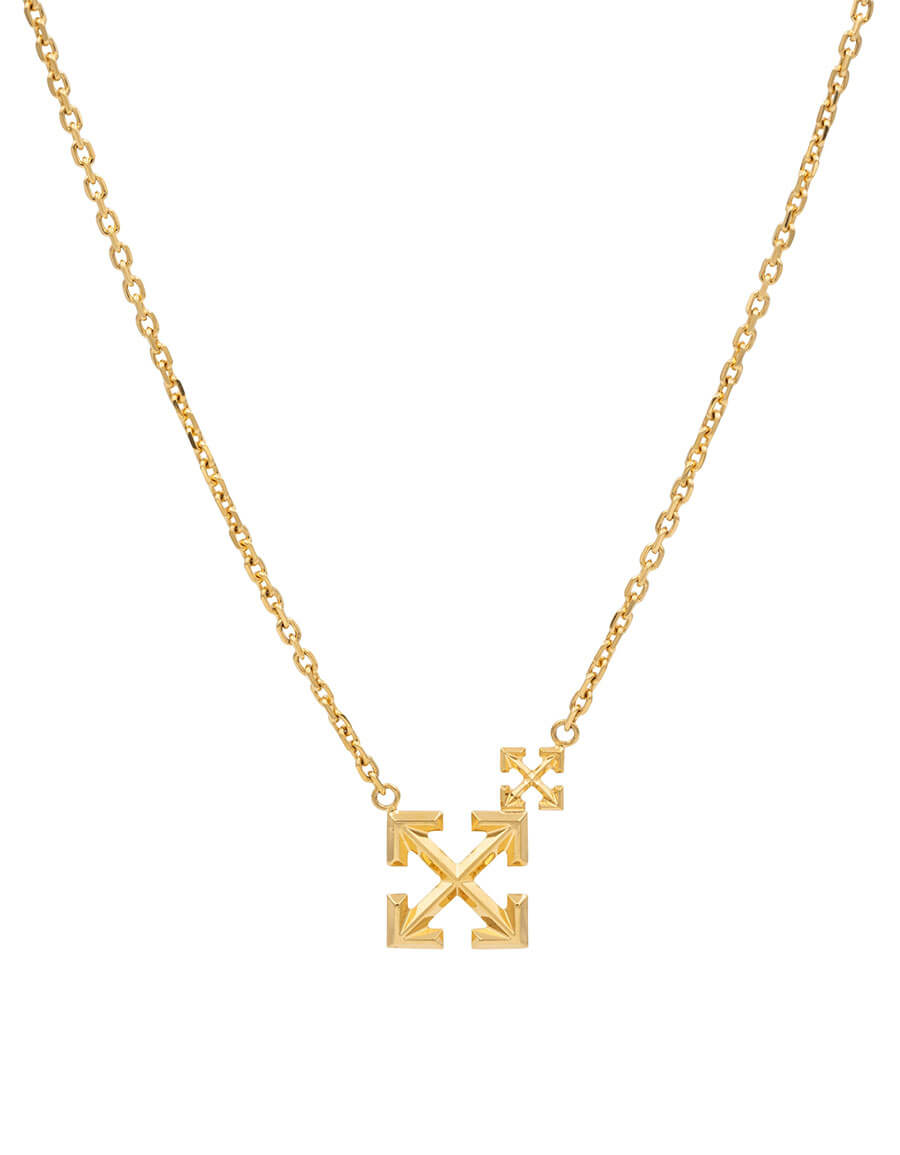 OFF WHITE Double Arrow necklace
