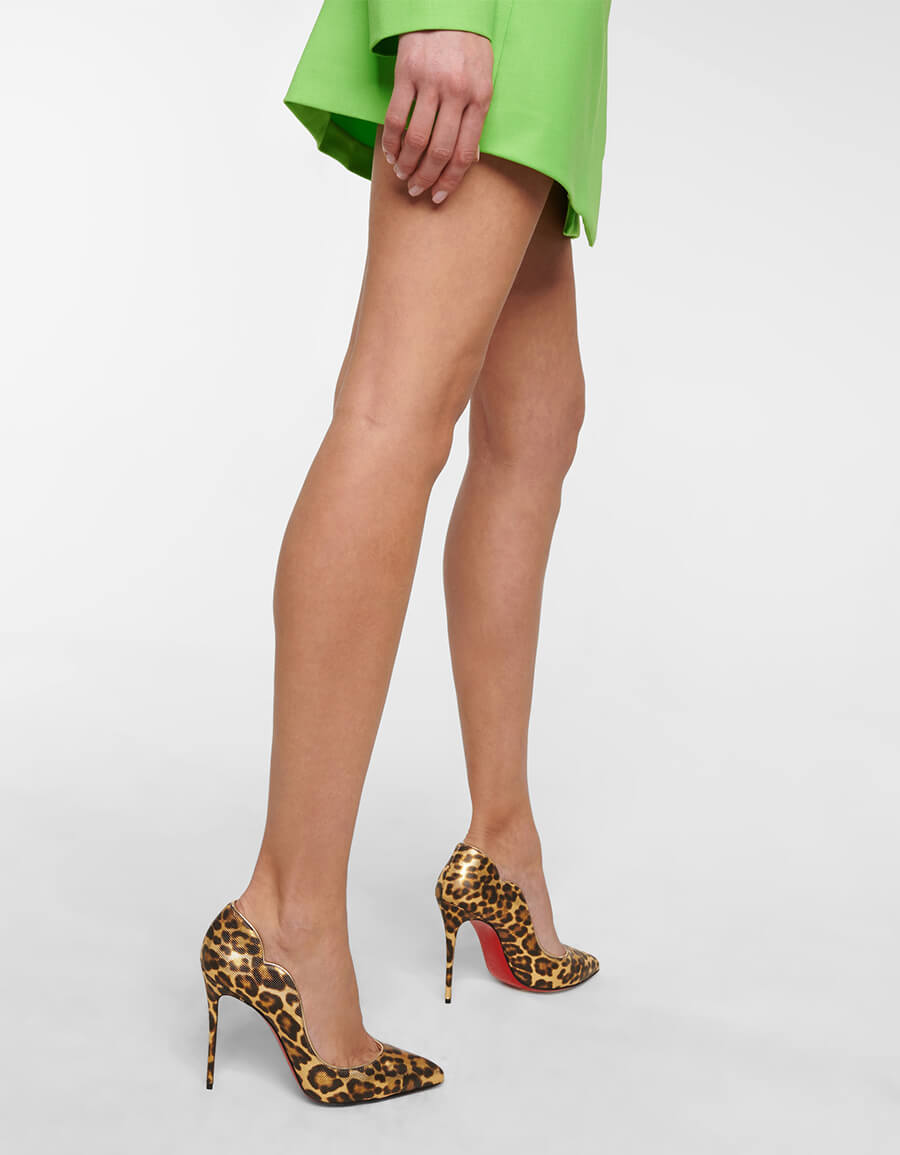 CHRISTIAN LOUBOUTIN Hot Chick 100 leather pumps