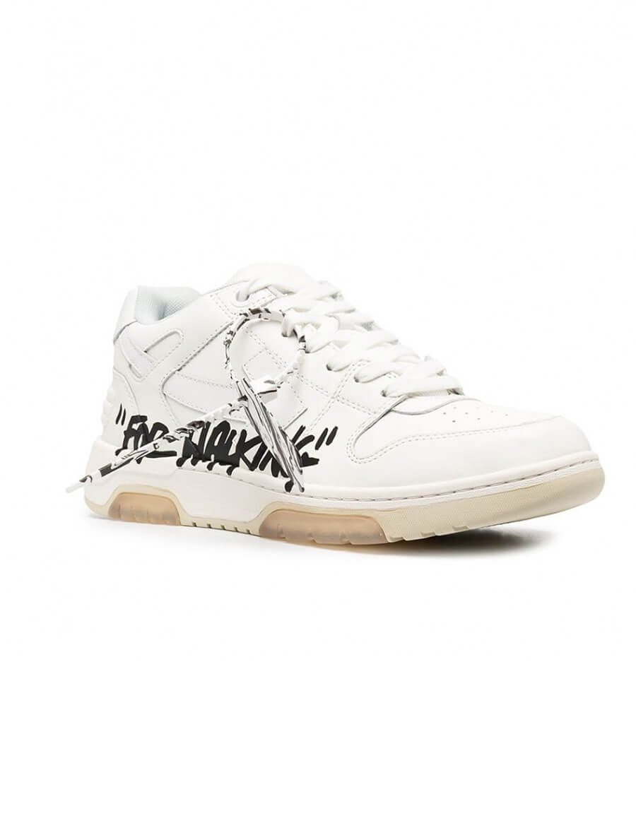 OFF WHITE OUT OF OFFICE LEATHER SNEAKERS