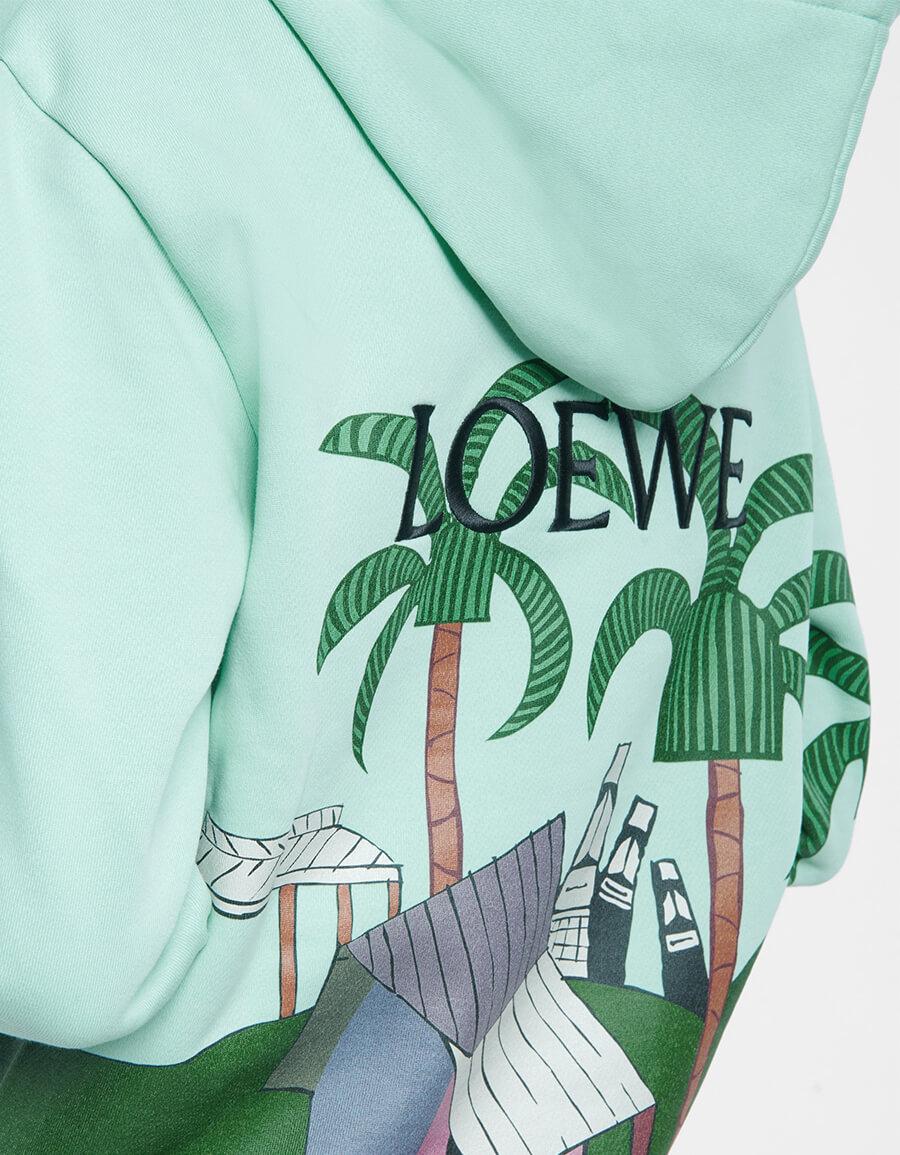 LOEWE x Ken Price printed cotton hoodie
