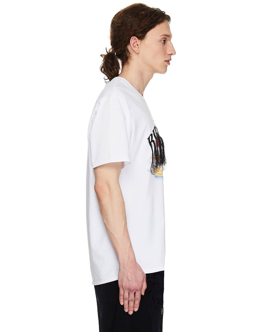 DOUBLET White Embroidered Birthday T shirt