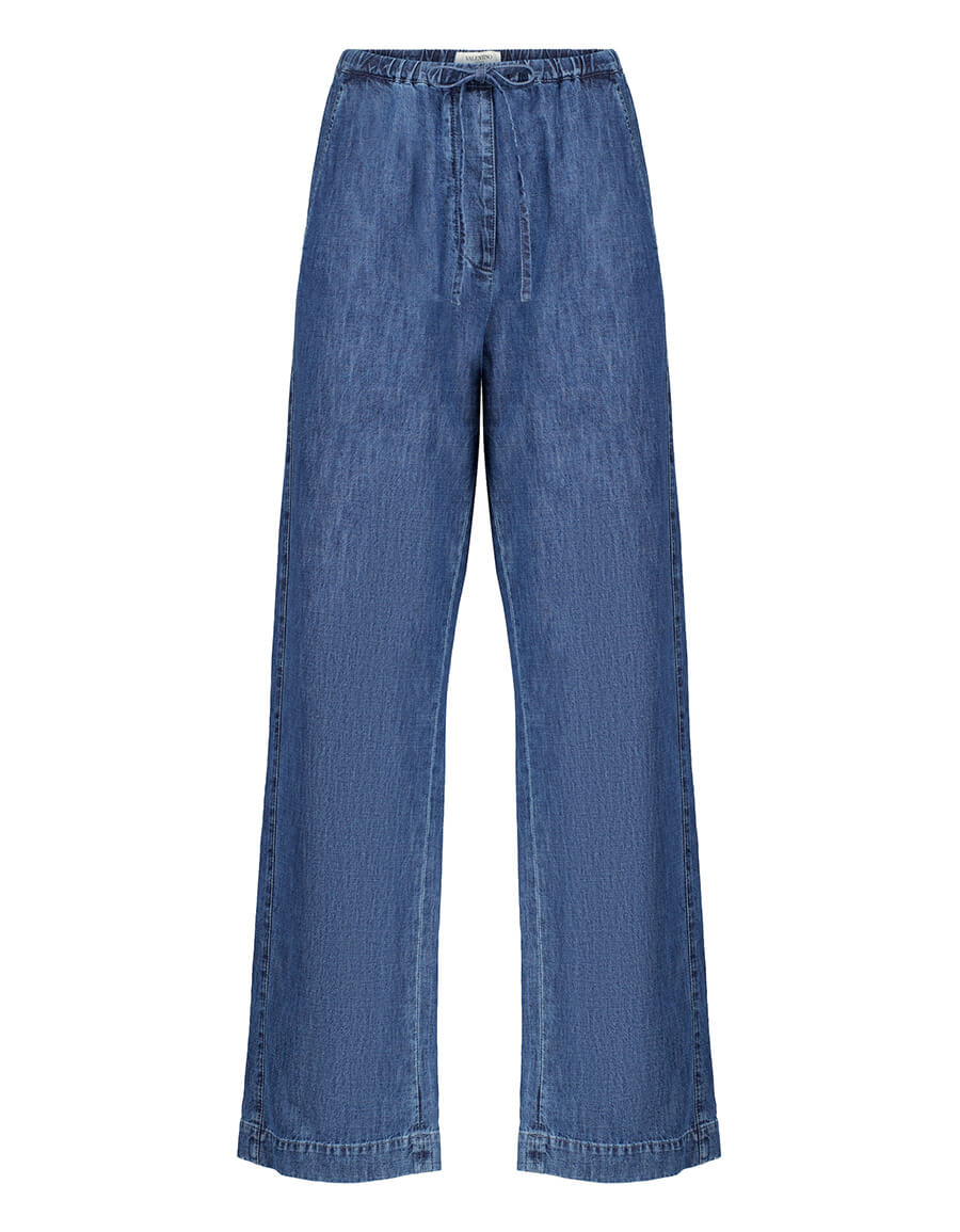 VALENTINO Valentino high rise wide leg jeans