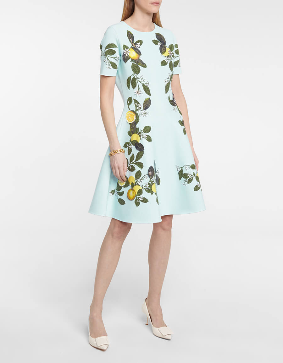 OSCAR DE LA RENTA Jacquard dress