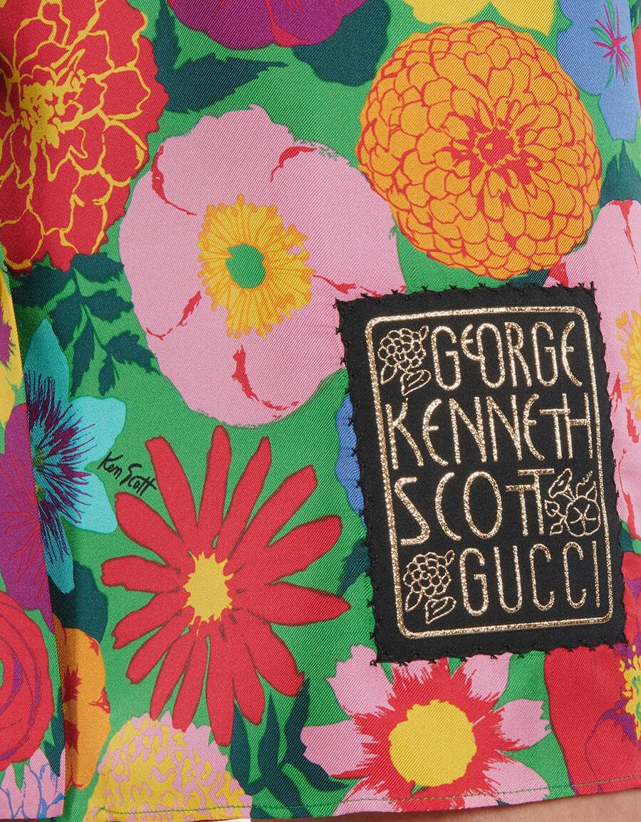 GUCCI x Ken Scott floral silk minidress