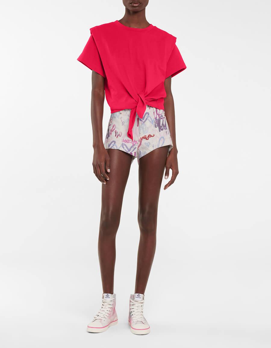 ISABEL MARANT Deverson printed denim shorts