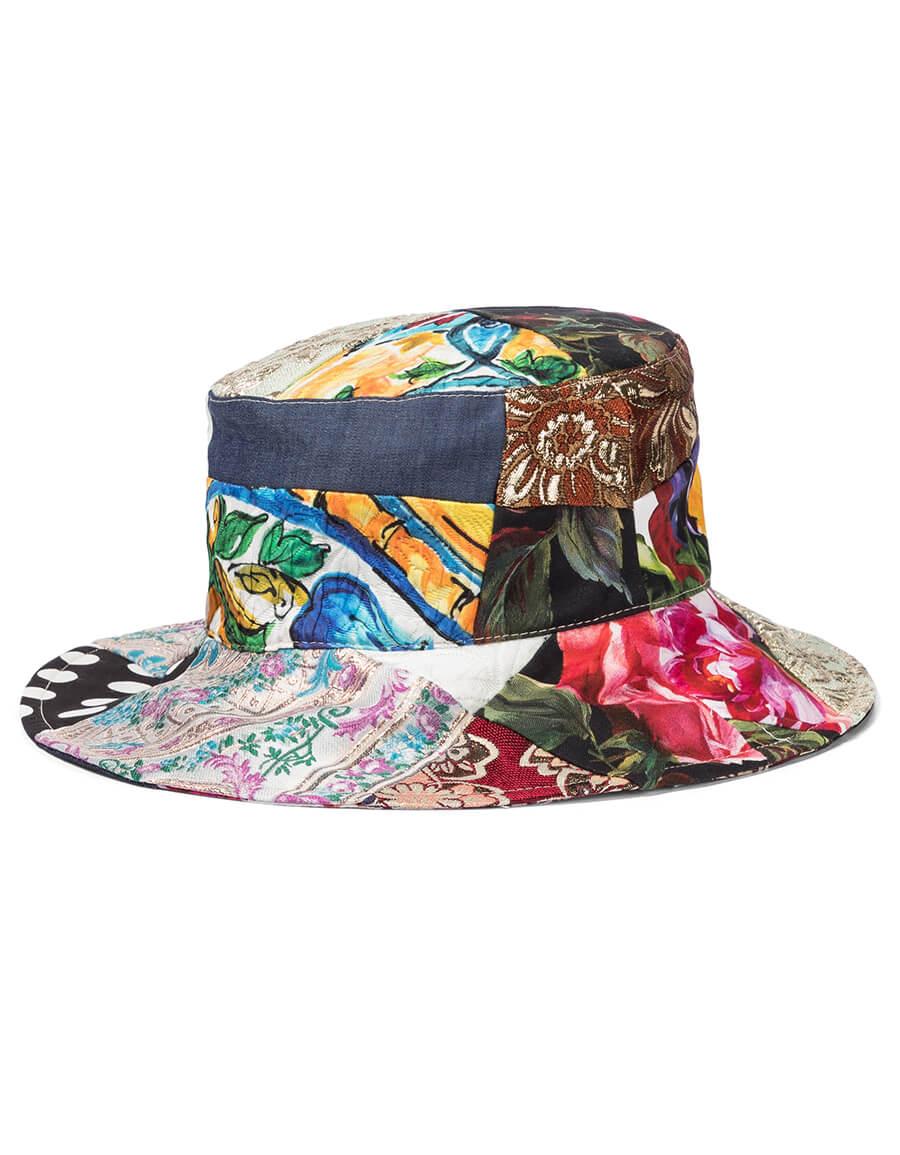 DOLCE & GABBANA Patchwork bucket hat
