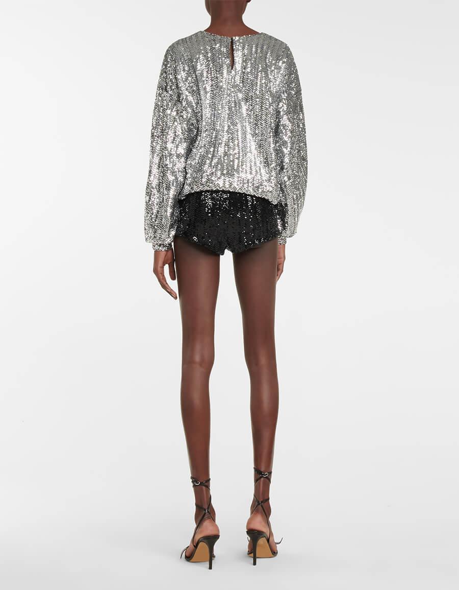 ISABEL MARANT Ozidi high rise sequined shorts