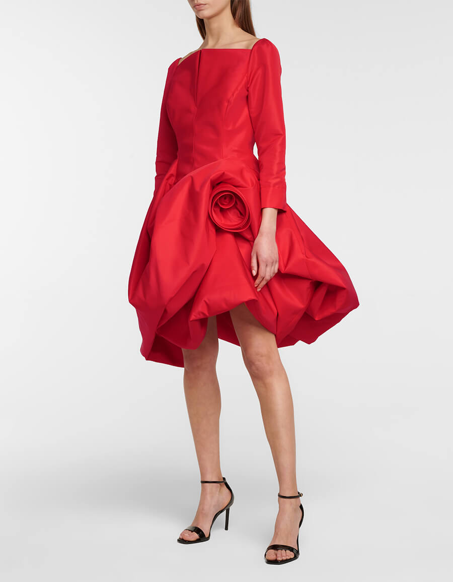 OSCAR DE LA RENTA Satin minidress