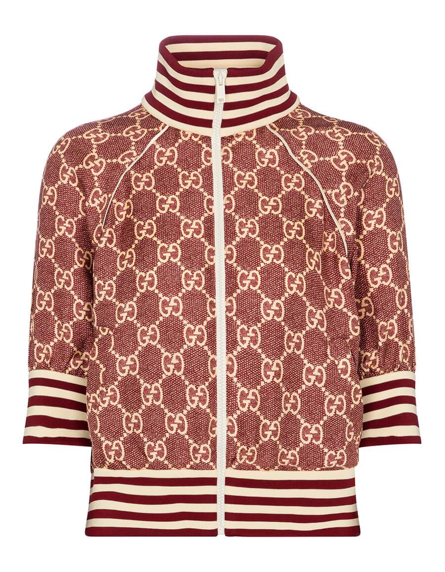 GUCCI GG Supreme silk twill track jacket