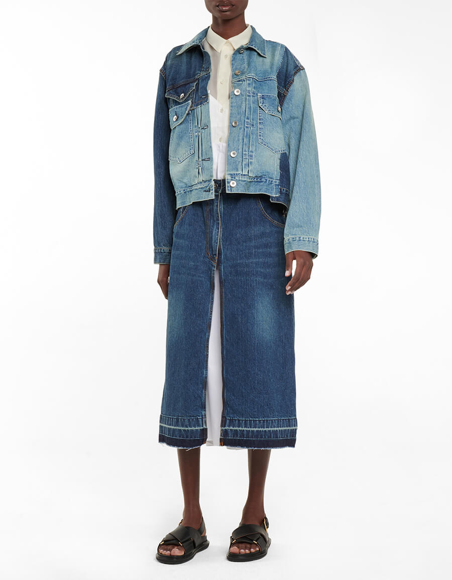 SACAI Deconstructed denim jacket
