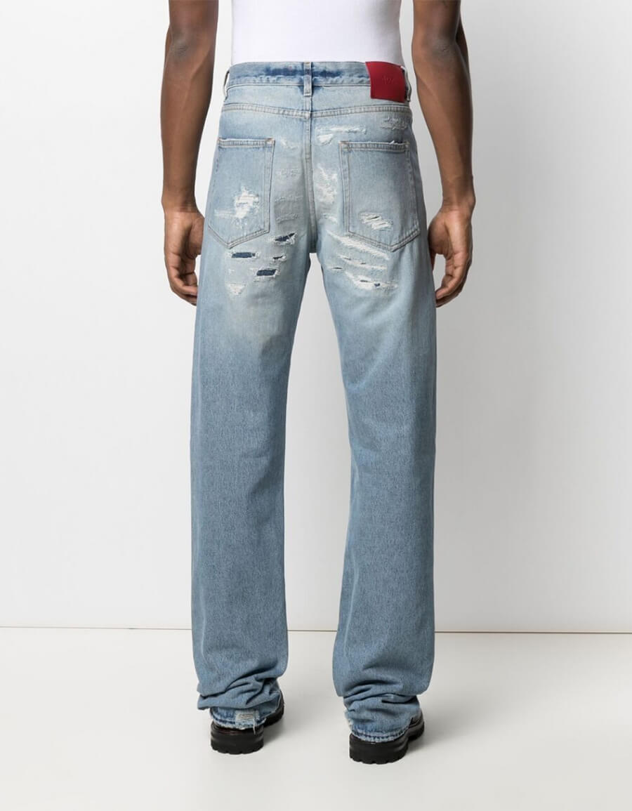 424 STRAIGHT BLEACHED JEANS