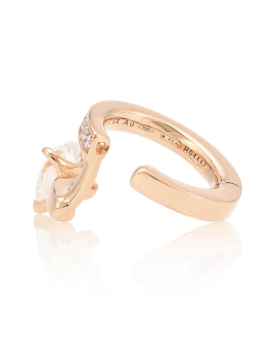 REPOSSI Serti Sur Vide 18kt rose gold and diamond ear cuff