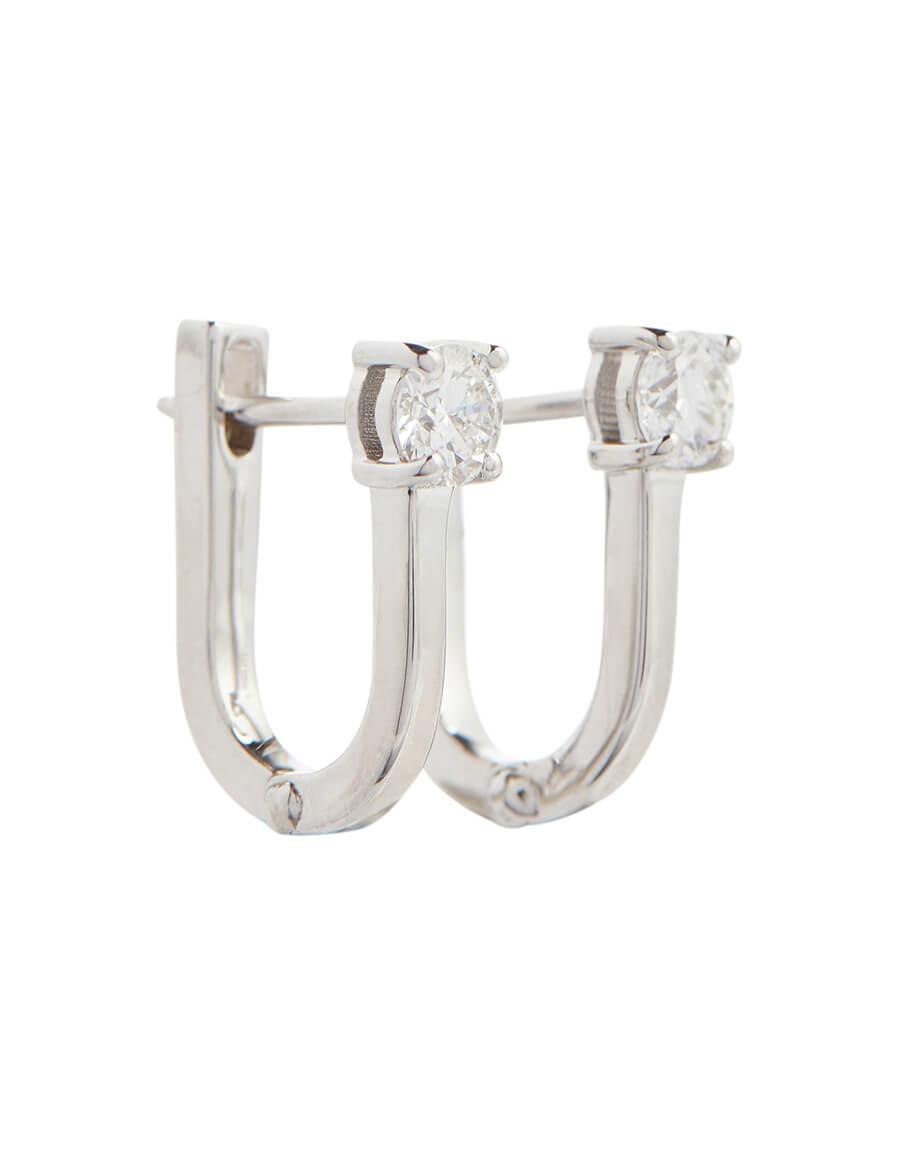 MELISSA KAYE Aria U 18kt white gold earrings with diamonds