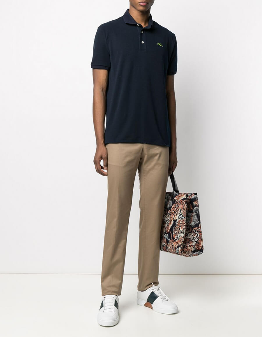 ETRO FLAT FRONT SPORT TROUSERS