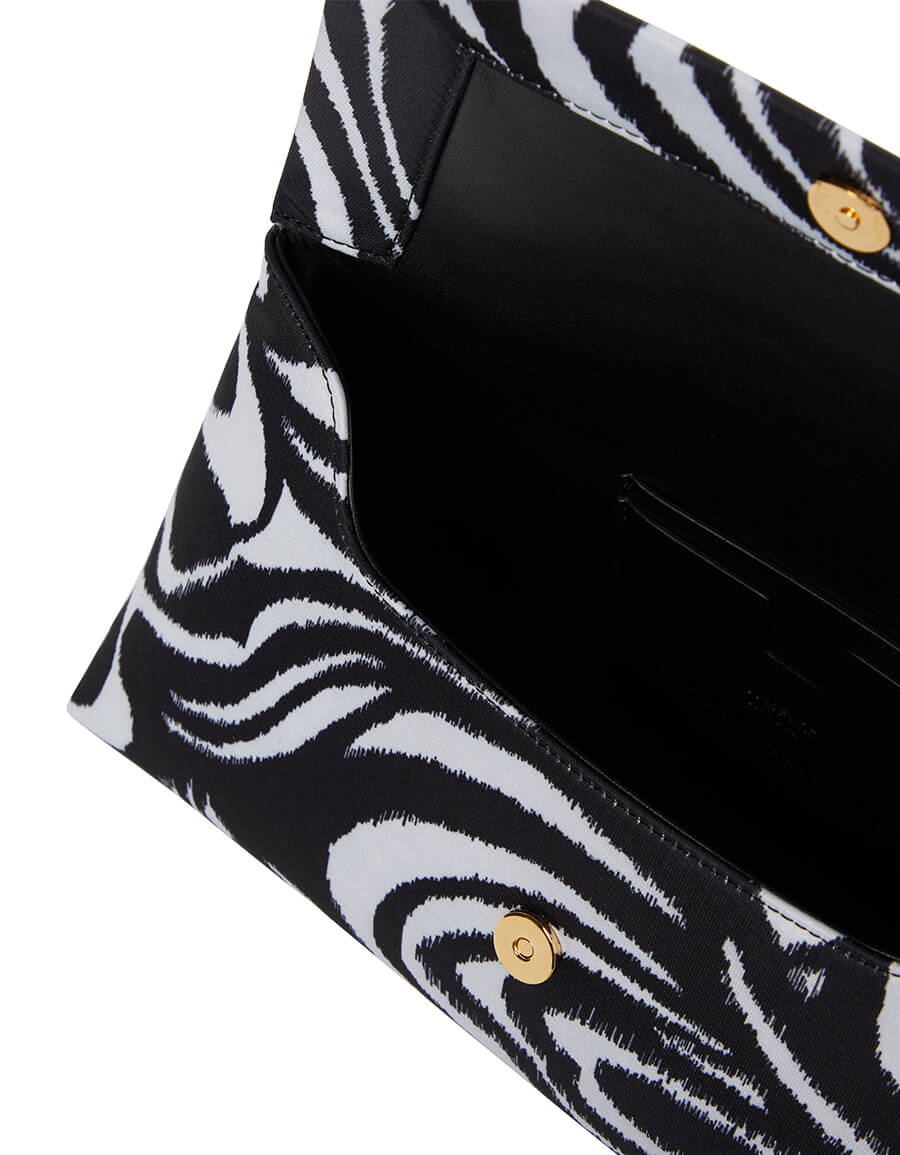 TOM FORD California printed satin clutch