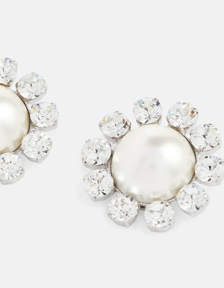 ALESSANDRA RICH Embellished clip on earrings
